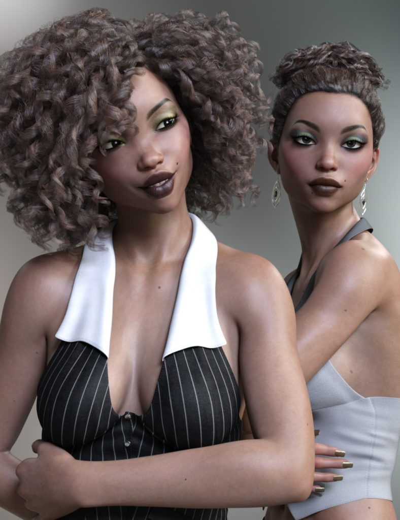 Kande and Musoke for Genesis 3 and 8 Female_DAZ3D下载站