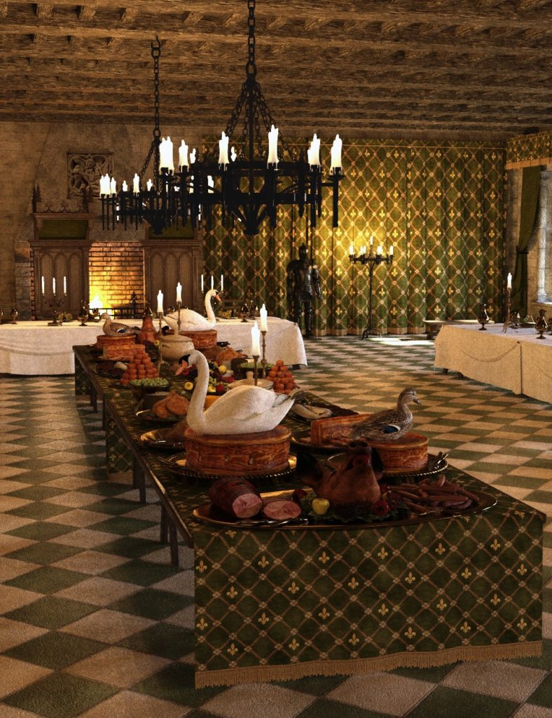 MICK-Banquet Hall_DAZ3D下载站