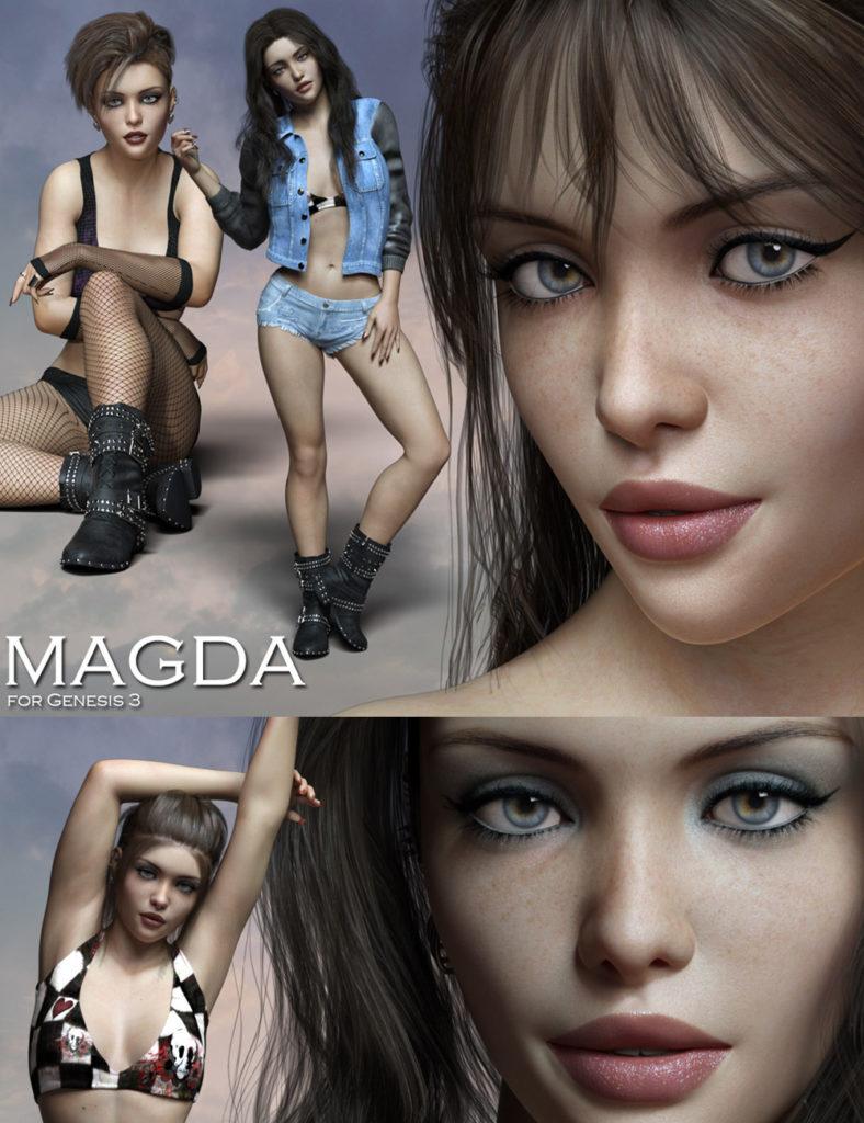 Magda for Genesis 3_DAZ3D下载站