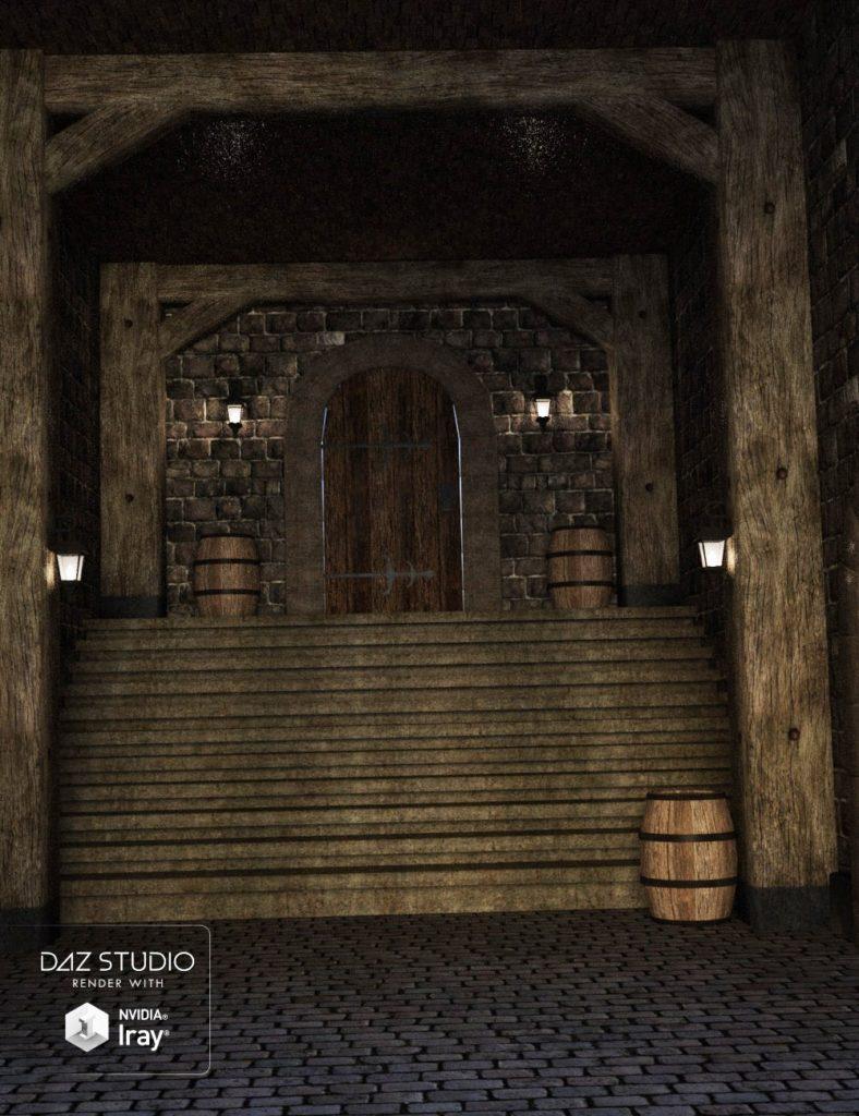 Medieval Inn Corridor_DAZ3D下载站