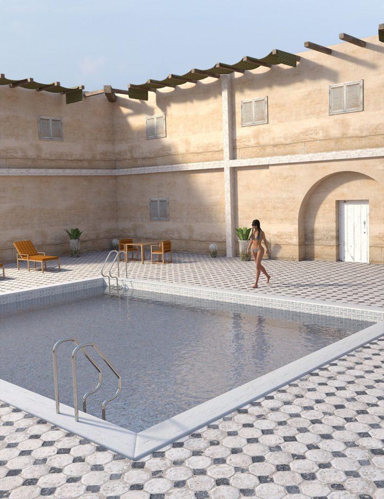 Mediterranean Pool_DAZ3D下载站
