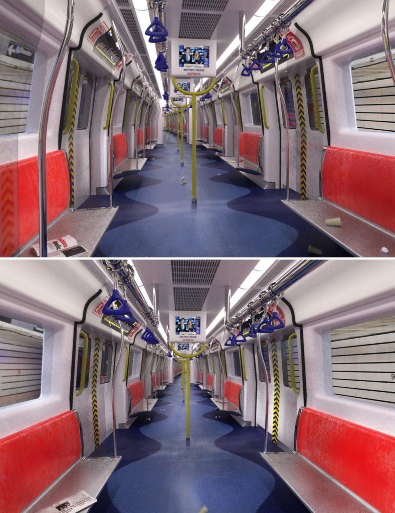 Metro Train_DAZ3D下载站