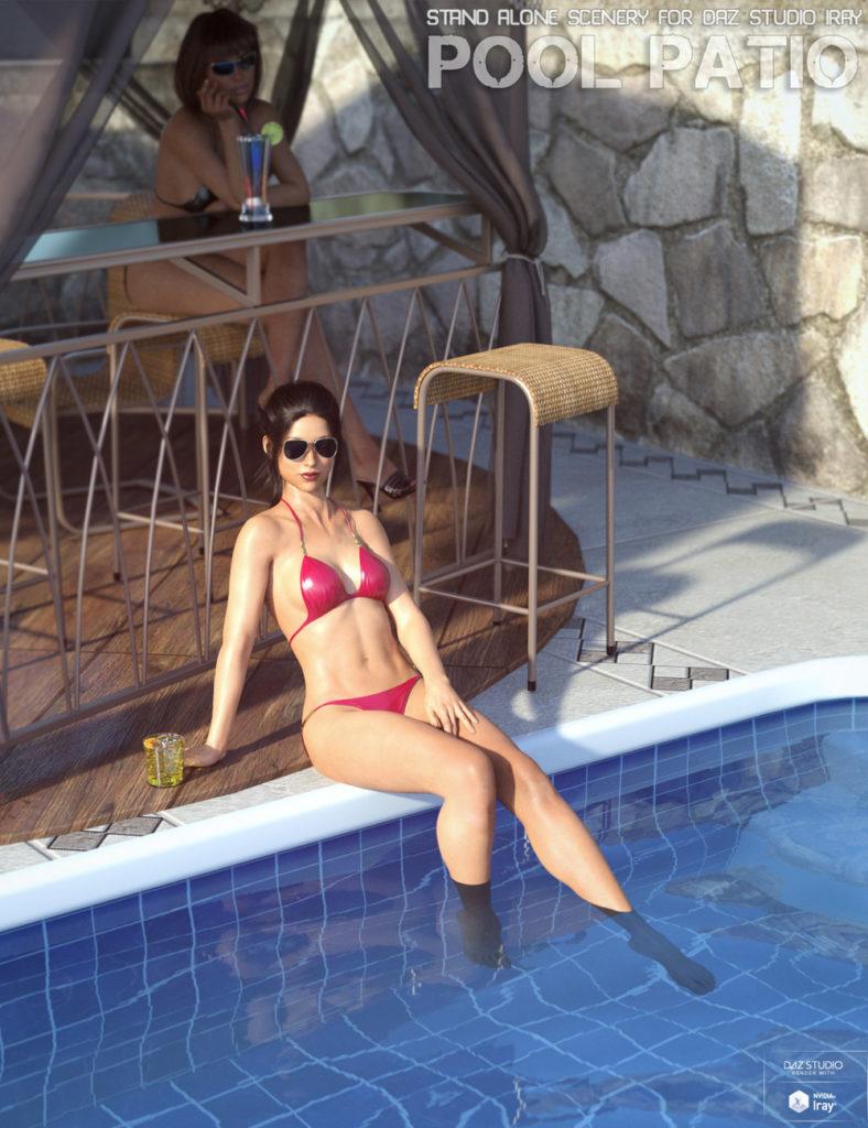 Pool Patio_DAZ3D下载站
