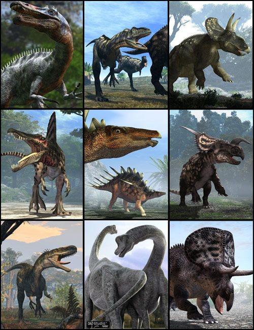 Predator vs. Prey Dinosaur Bundle_DAZ3D下载站