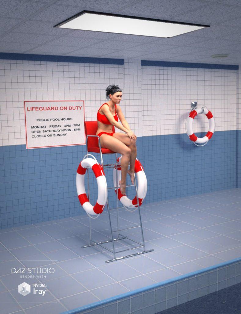 Public Indoor Pool_DAZ3D下载站