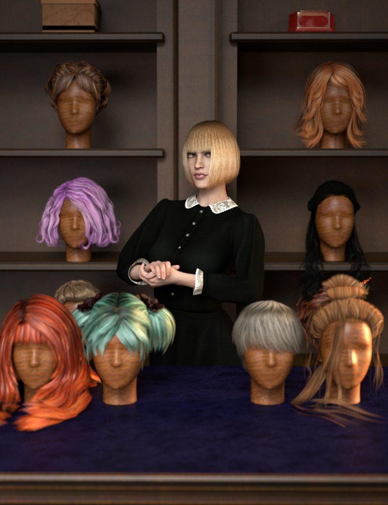 RSSY Hair Converter from Victoria 4 to Genesis 8 Female_DAZ3D下载站