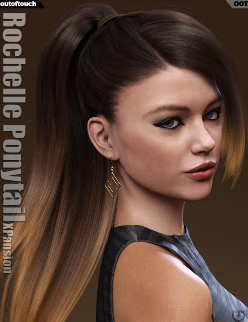 Rochelle Ponytail Hair Iray Texture XPansion_DAZ3D下载站