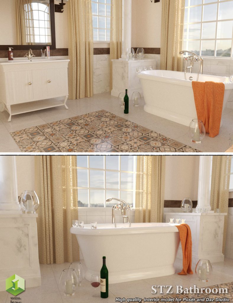 STZ Bathroom_DAZ3D下载站