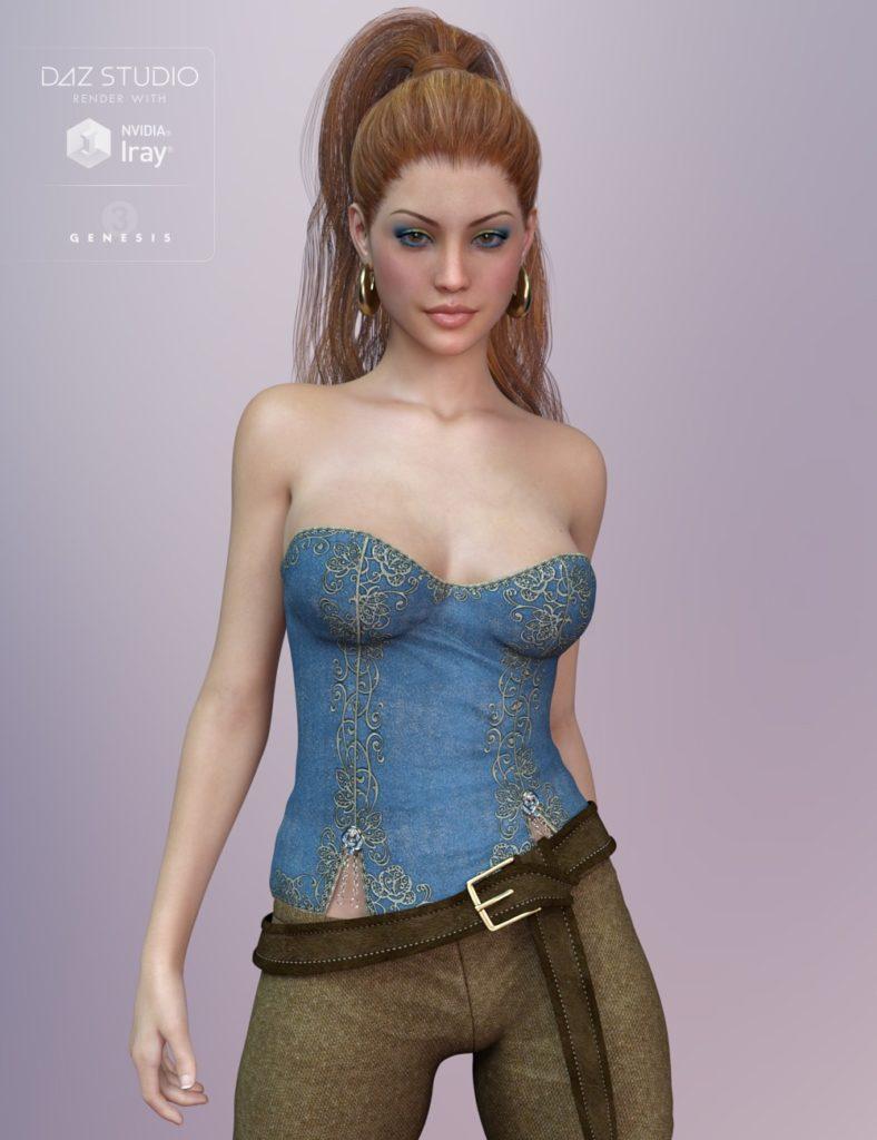 Sanza for Genesis 3 Female_DAZ3D下载站