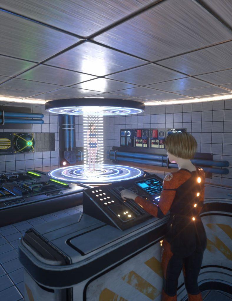 Sci-Fi Transporter Room_DAZ3D下载站