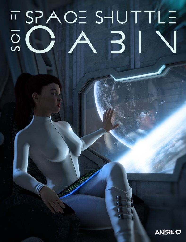 Sci-fi Space Shuttle Cabin_DAZ3D下载站