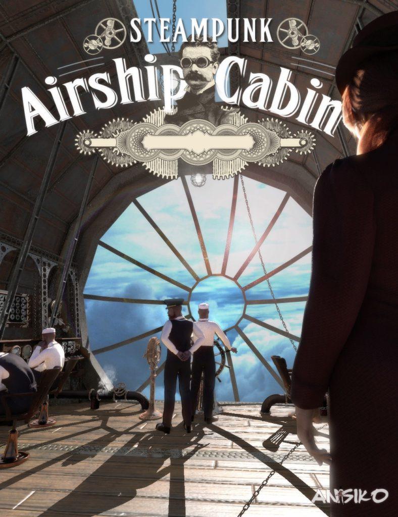 Steampunk Airship Cabin_DAZ3D下载站