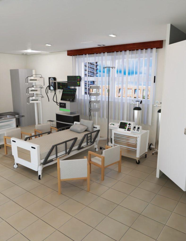 Tesla ICU Room_DAZ3D下载站