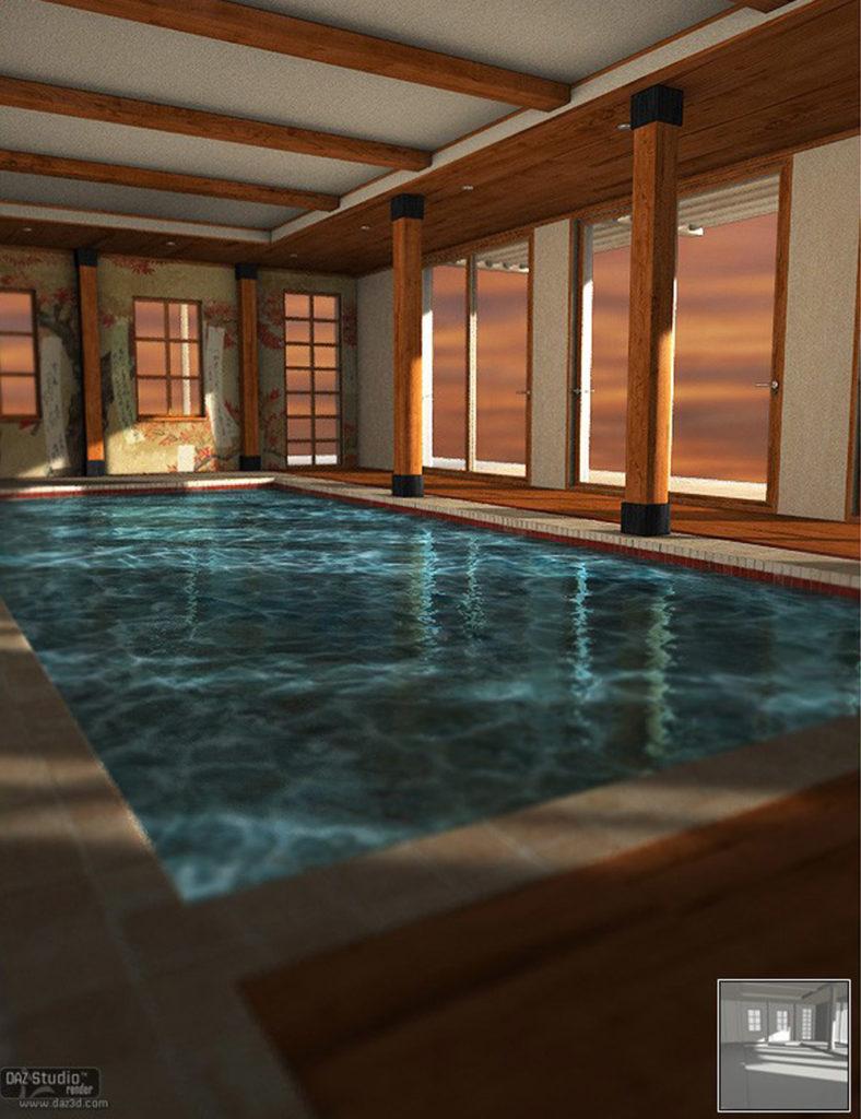 The Wisteria PoolHouse Illuminations Kit_DAZ3D下载站