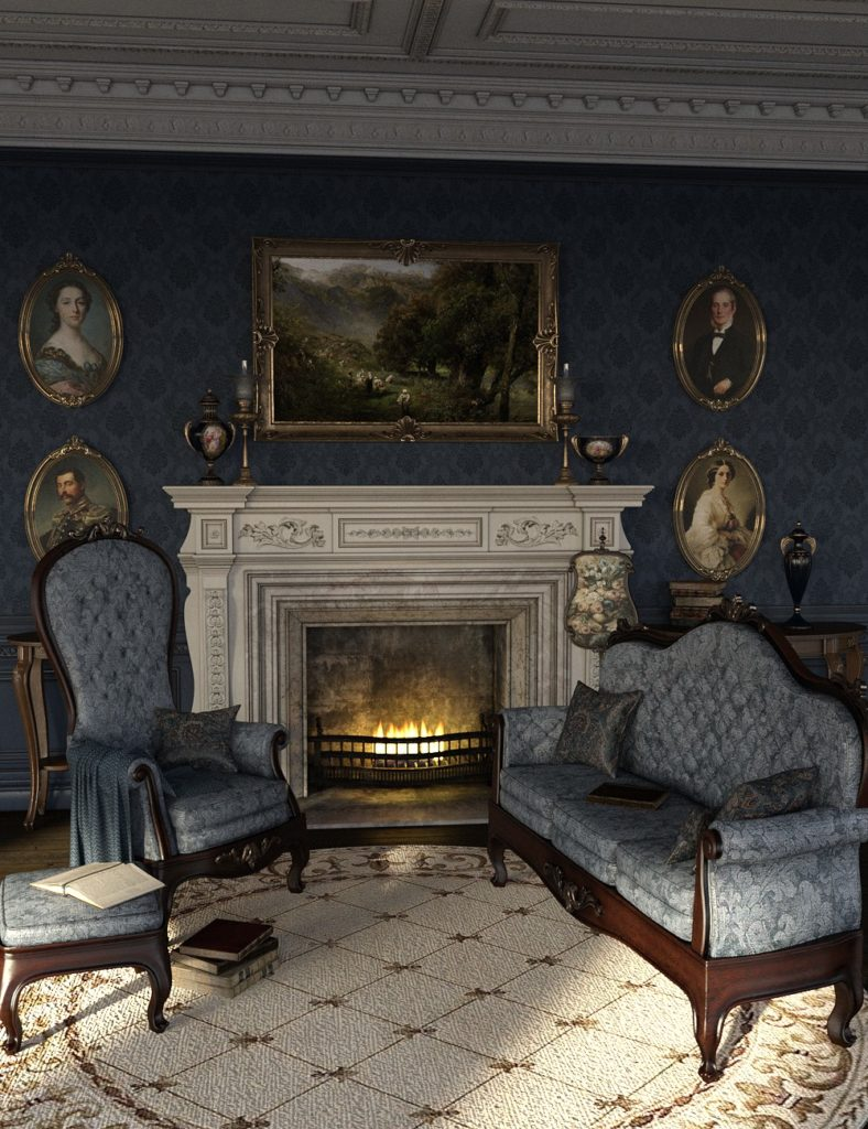 The Blue Room Iray for Victorian Decor 2 and 3_DAZ3D下载站