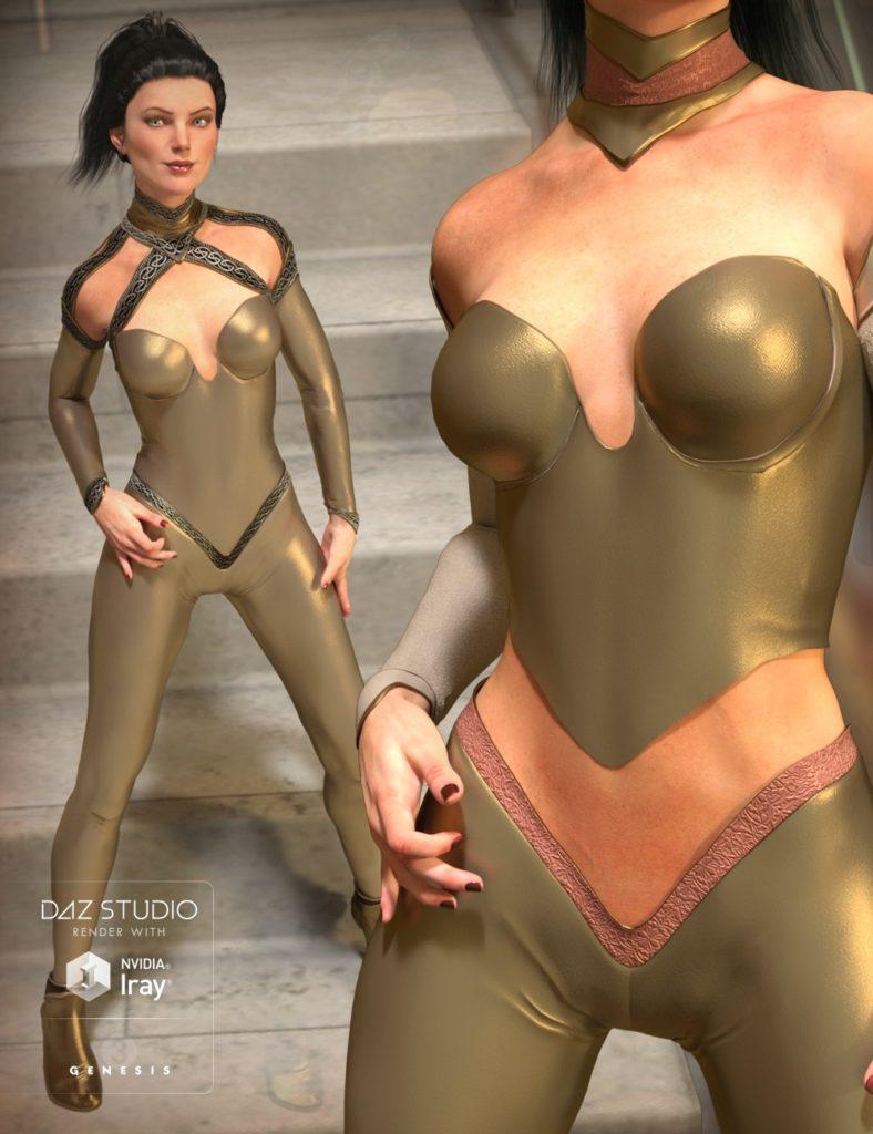 The CallaSuit for Genesis 3 Female(s) and Genesis 2 Female(s)_DAZ3D下载站