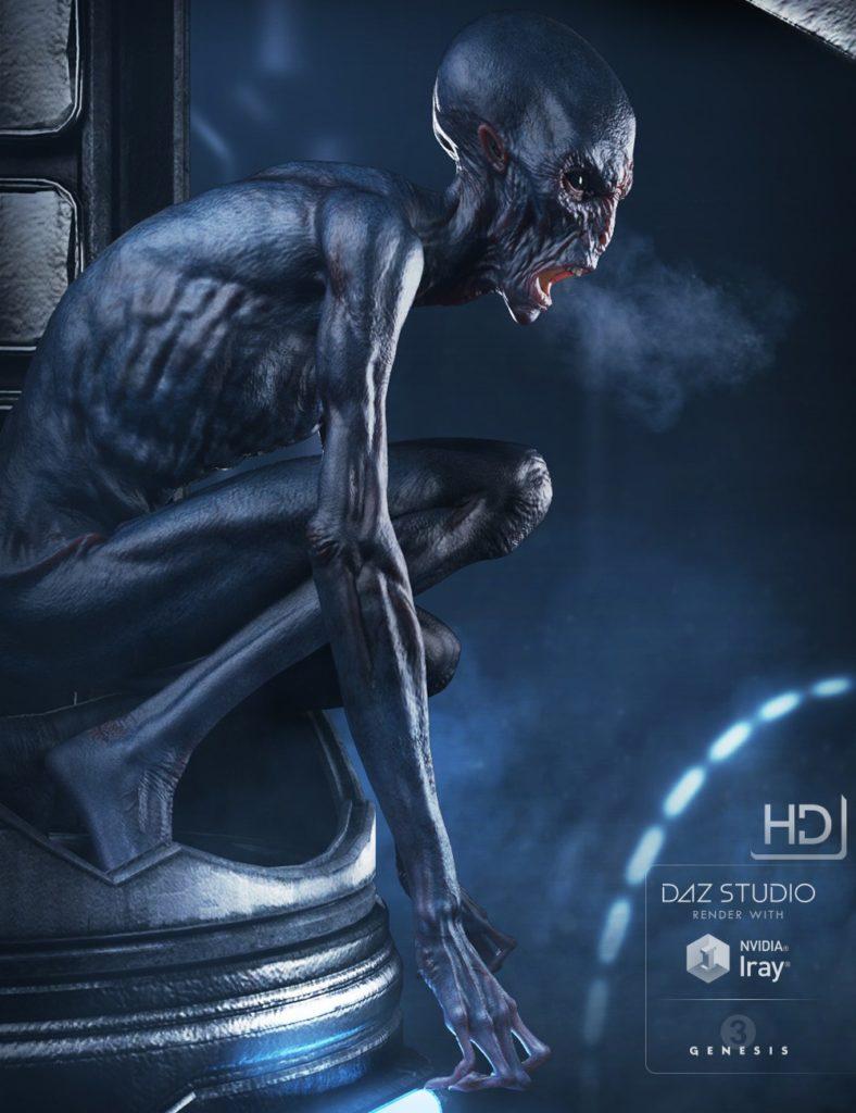 The Exile Alien HD for Genesis 3 Male_DAZ3D下载站
