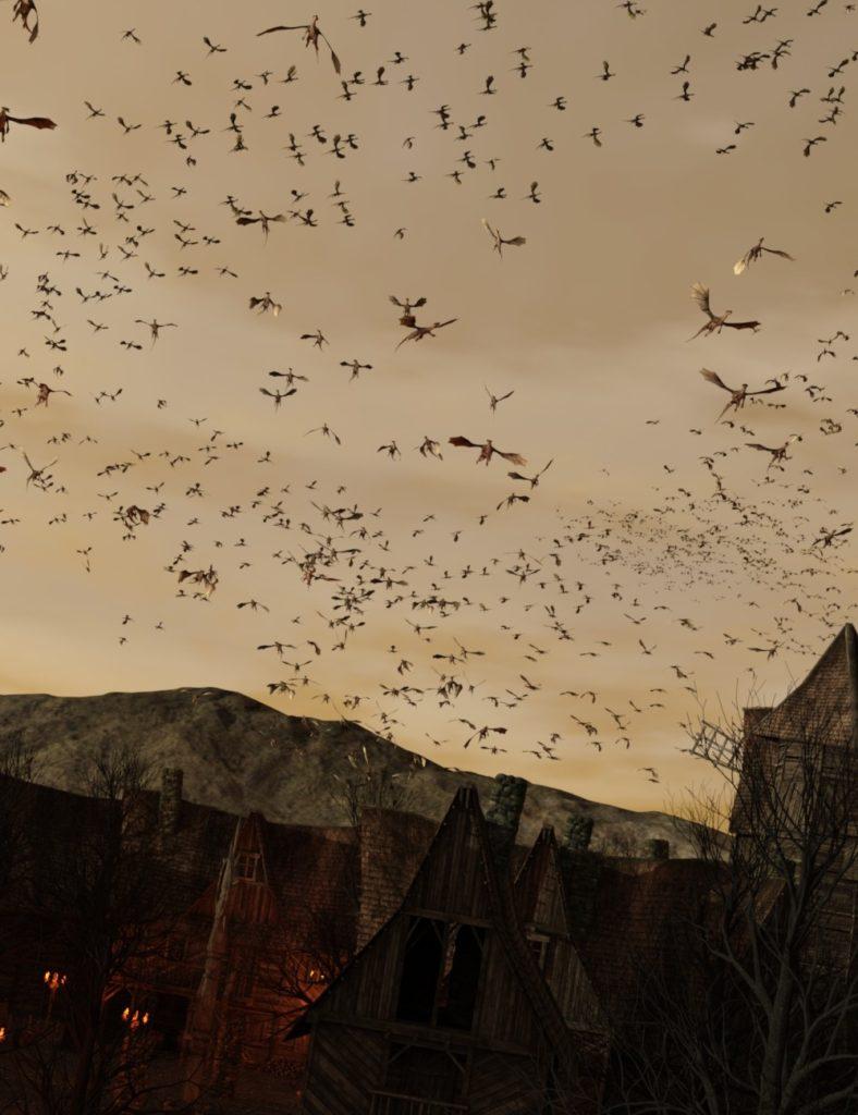 The Flock Dragons_DAZ3D下载站