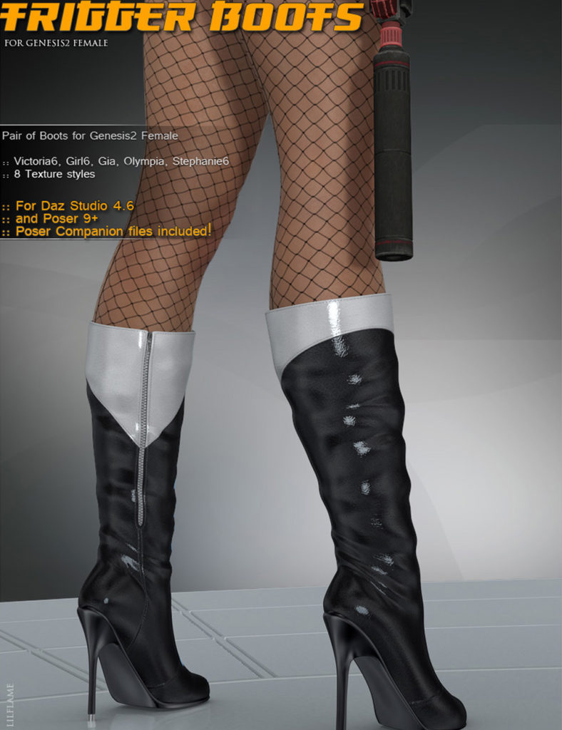 Trigger Boots G2F_DAZ3D下载站