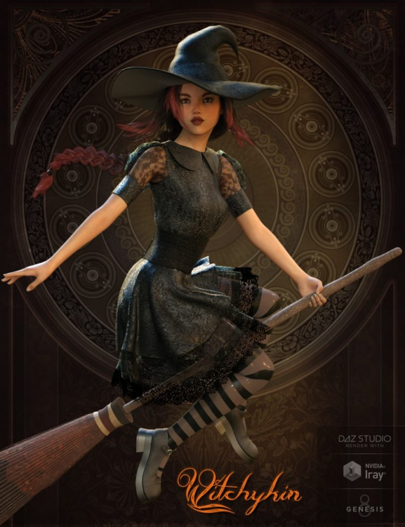 Witchykin Outfit for Genesis 8 Female(s)_DAZ3D下载站