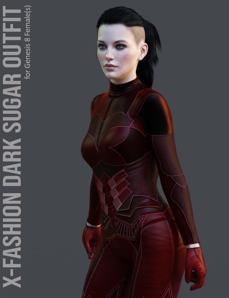 X-Fashion Dark Sugar for Genesis 8 Females_DAZ3D下载站