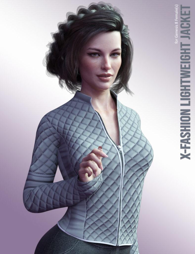 X-Fashion LightWeight Jacket for Genesis 8 Females_DAZ3D下载站