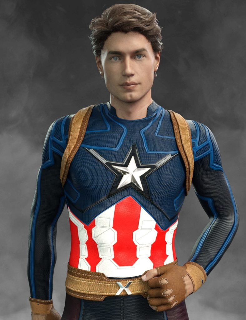 X-Fashion America Outfit for Genesis 8 Male(s)_DAZ3D下载站