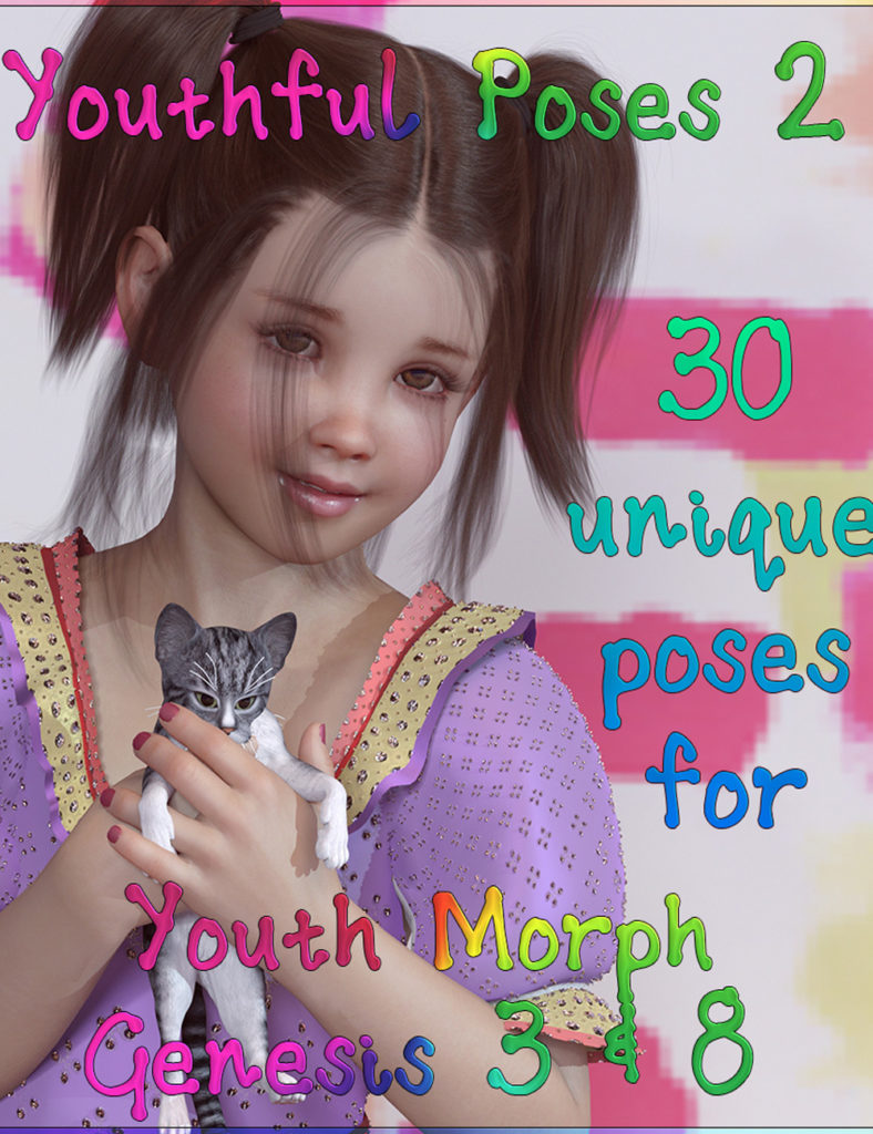 Youthful Poses 2 for Youth Morph G3 and G8_DAZ3D下载站