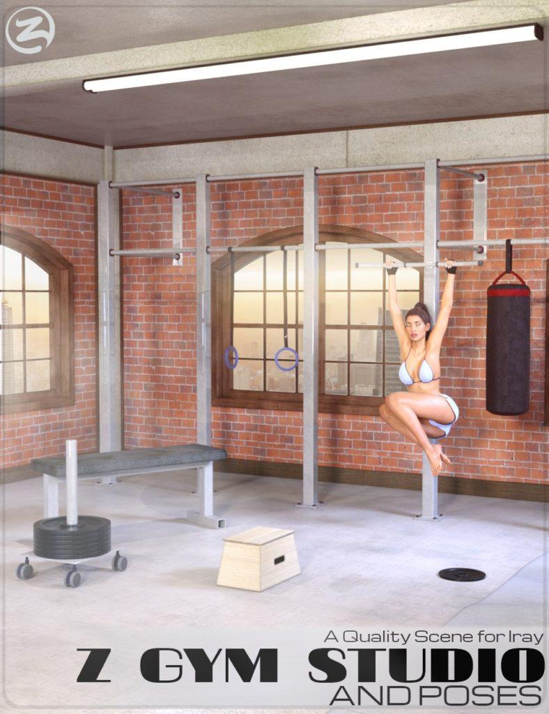 Z Gym Studio and Poses_DAZ3D下载站