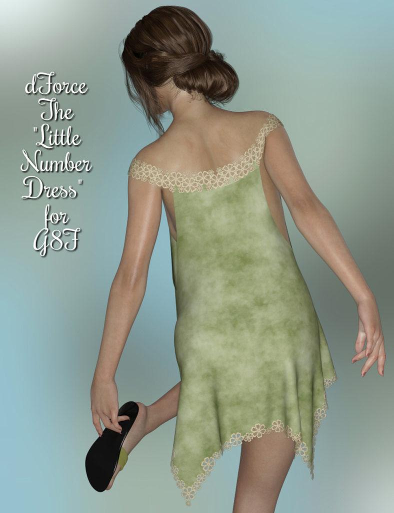 dForce – The Little Number Dress for G8F_DAZ3D下载站