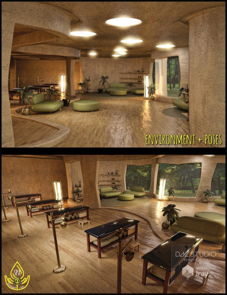 i13 Spa and Lounge Environment with Poses_DAZ3D下载站