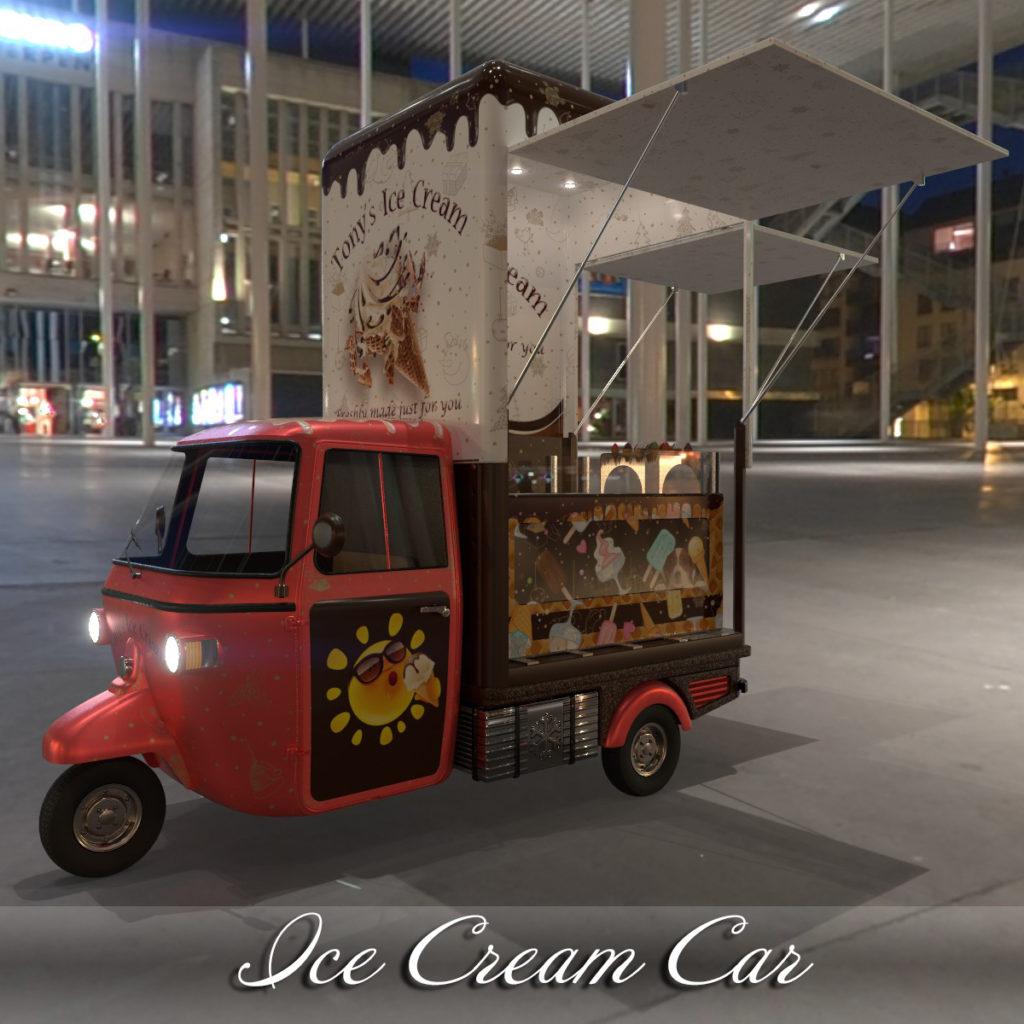 AJ Ice Cream Car_DAZ3D下载站