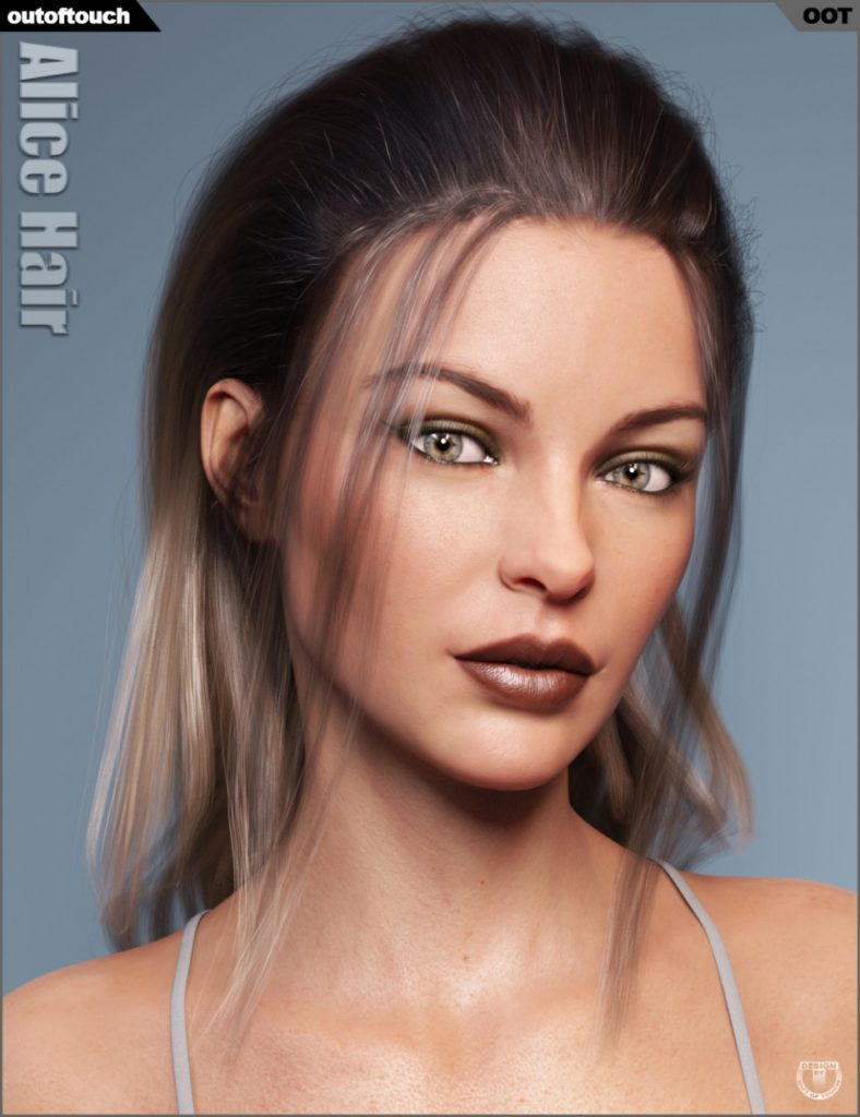 Alice Wet and Dry Hair for Genesis 3 and 8 Female(s)_DAZ3D下载站