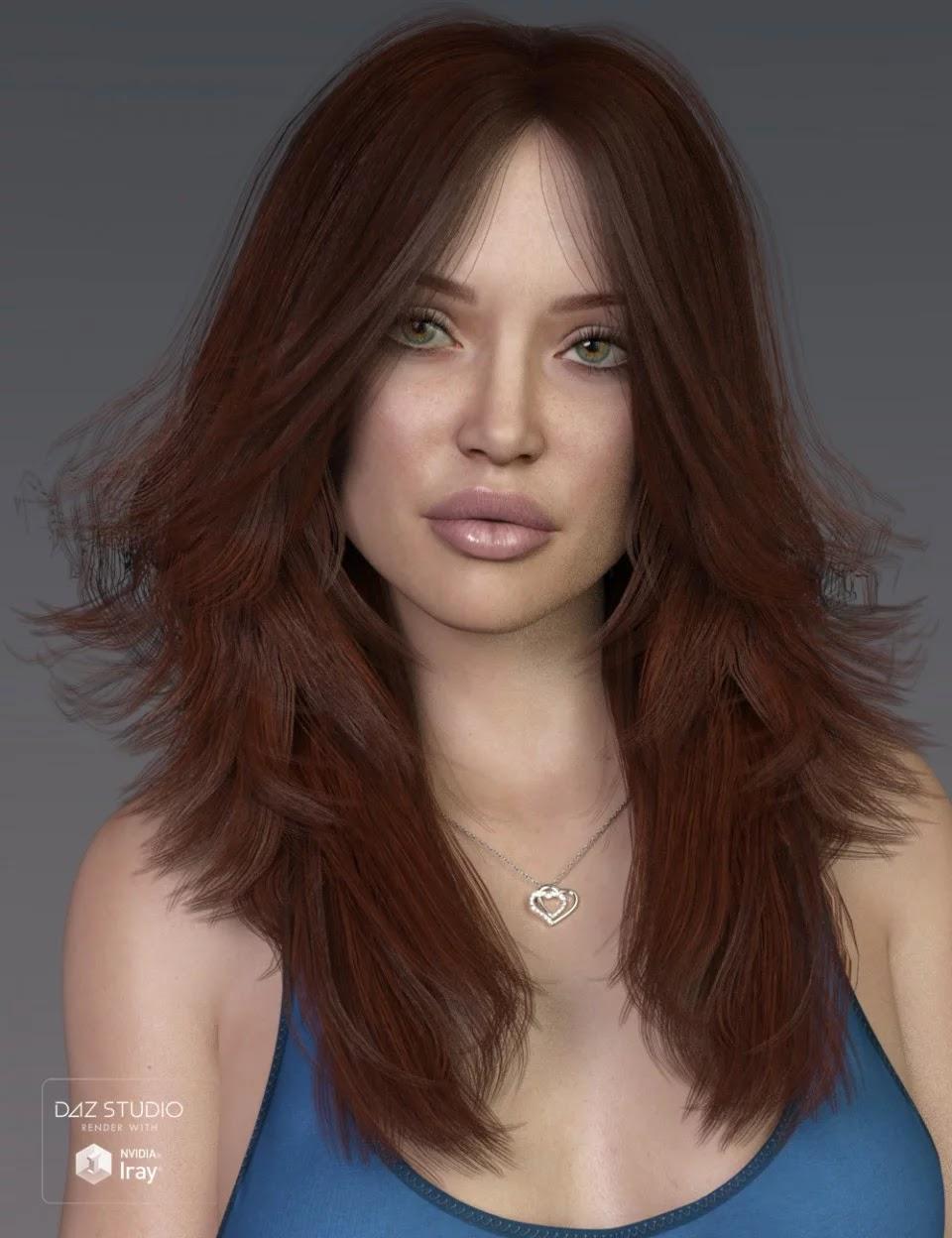 Alina Hair for Genesis 3 and 8 Female(s)_DAZ3D下载站