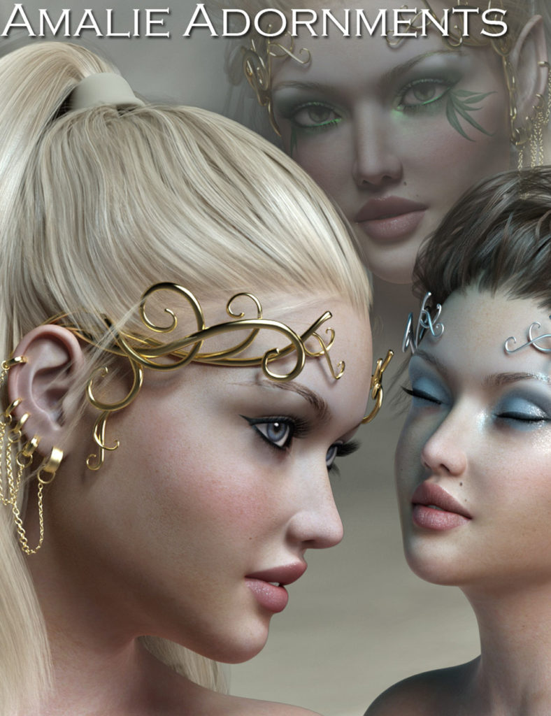 Amalie Adornments for Genesis 3_DAZ3D下载站