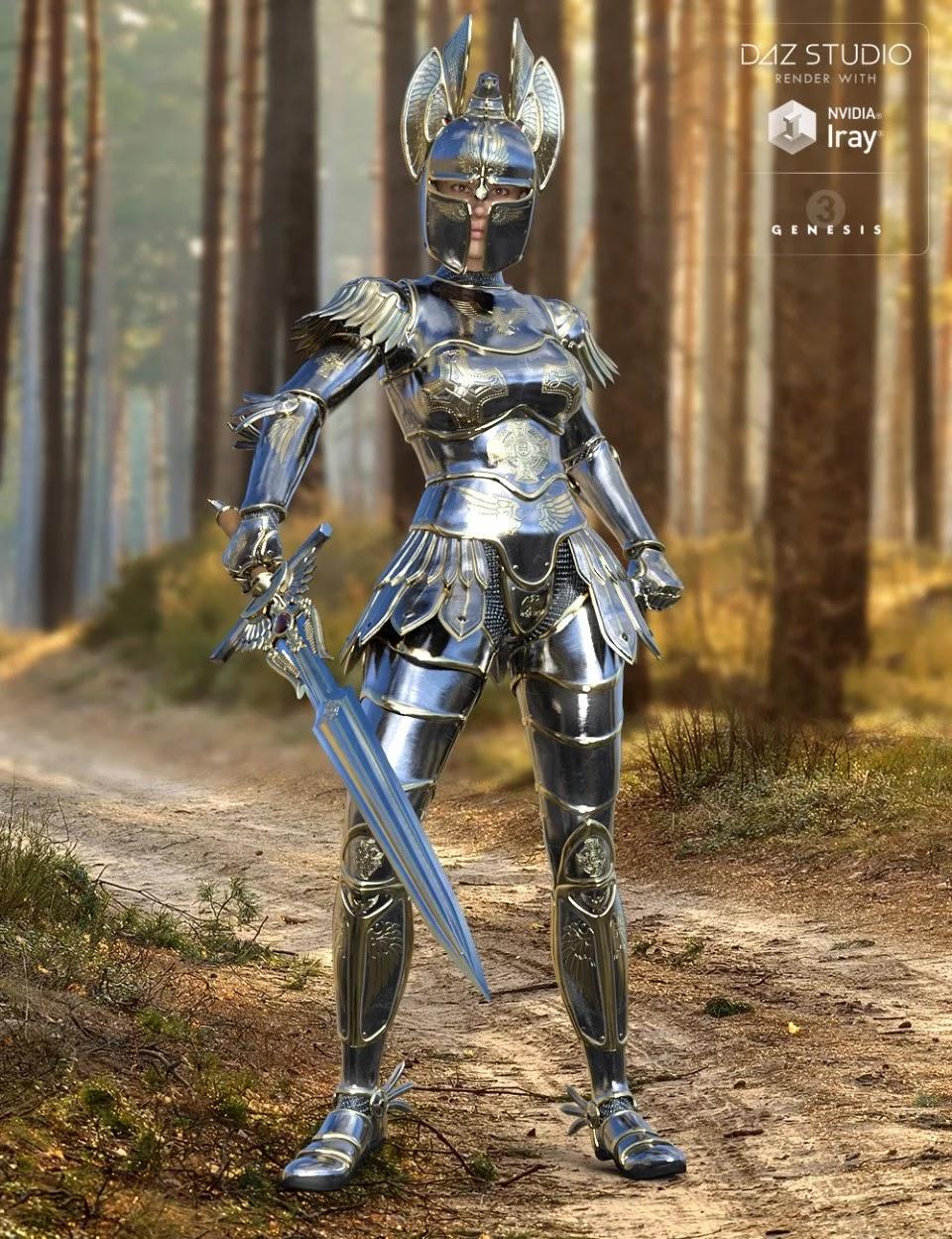 Angel Armor for Genesis 3 Female(s)_DAZ3D下载站