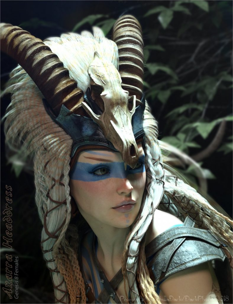 Axarra Headdress for Genesis 8 Female(s)_DAZ3D下载站