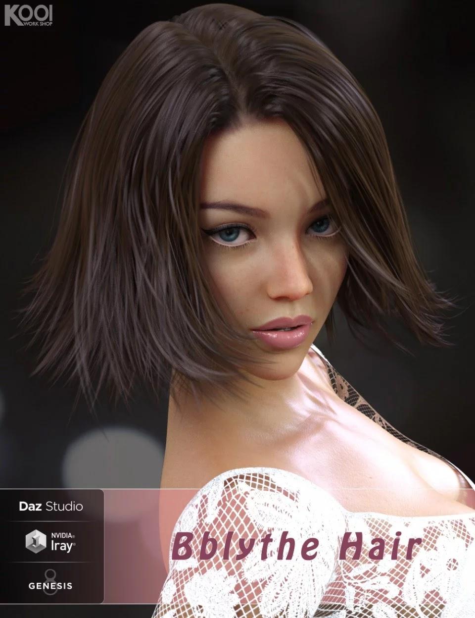 Bblythe Hair for Genesis 8 Female(s)_DAZ3D下载站