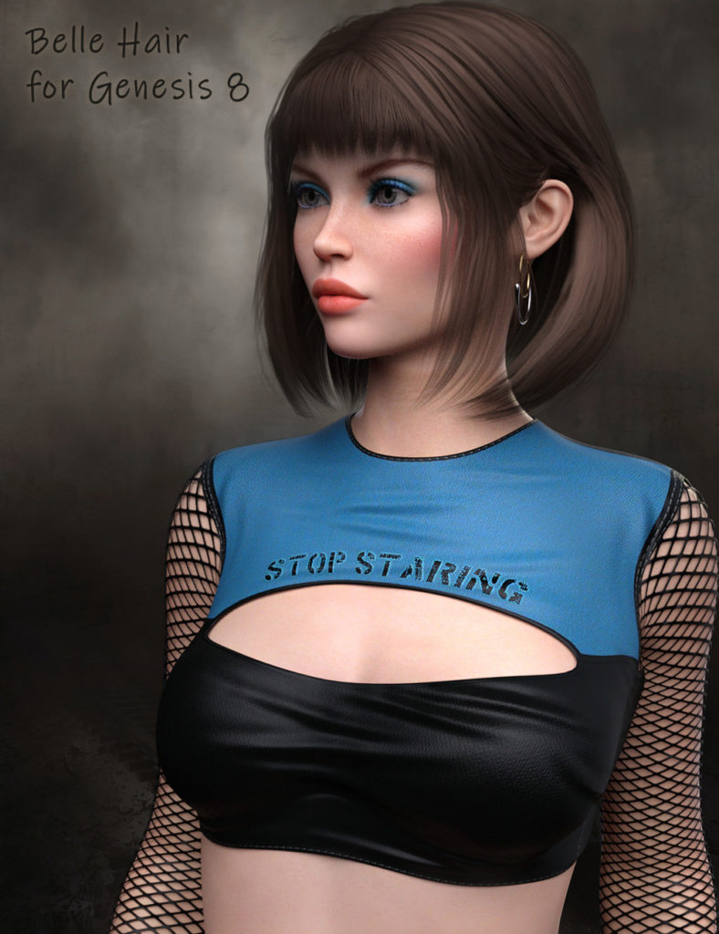Belle Hair G8_DAZ3D下载站