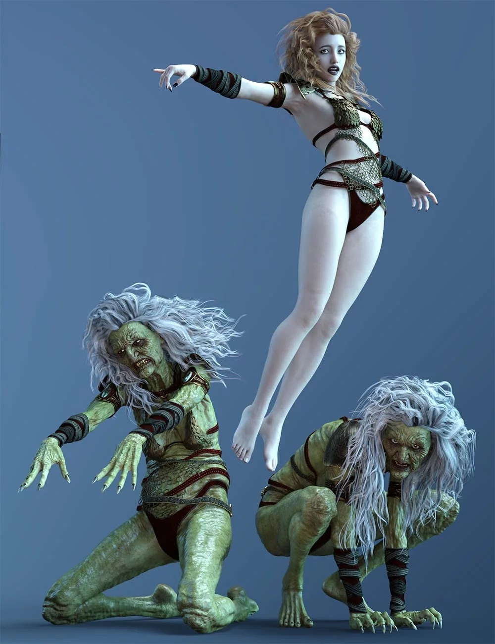 CDI Witch Poses for Hagred HD and Genesis 8 Female_DAZ3D下载站