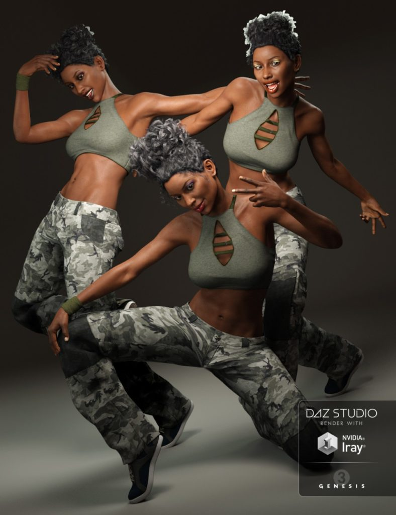 Capsces Hip Hop Poses and Expressions for Genesis 3 Female(s)_DAZ3D下载站