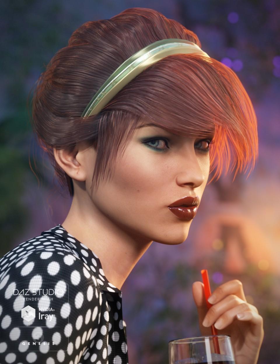 Chic Hair for Genesis 3 Female(s)_DAZ3D下载站