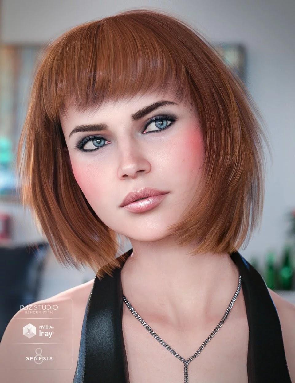 Coco Hair for Genesis 8 Female(s)_DAZ3D下载站