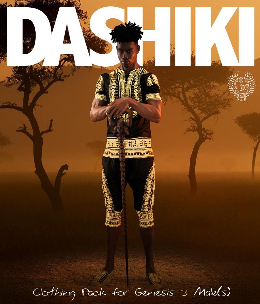 DASHIKI Pack for Genesis 3 Males_DAZ3D下载站