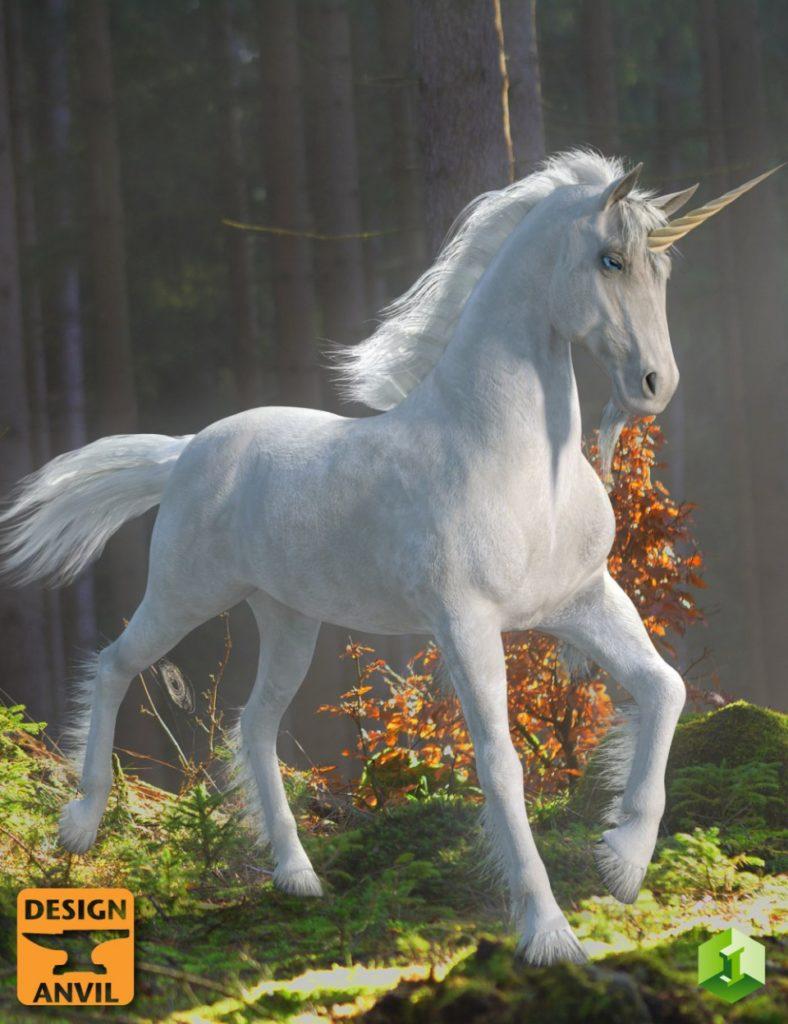 DA Unicorn for Daz Horse 2_DAZ3D下载站