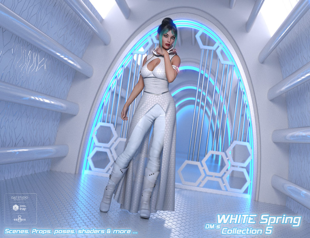 DMs WHITE Spring – Collection 5_DAZ3D下载站