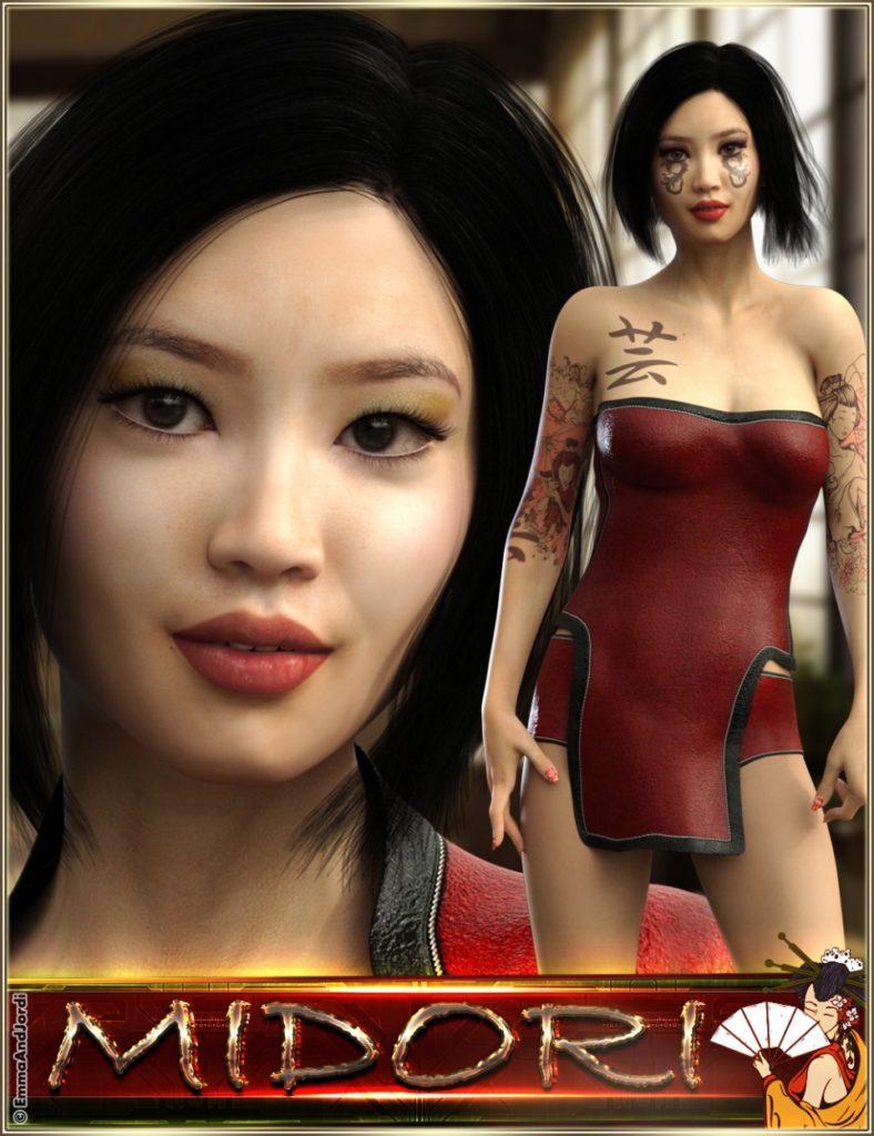 EJ Midori for Genesis 8 Female_DAZ3D下载站