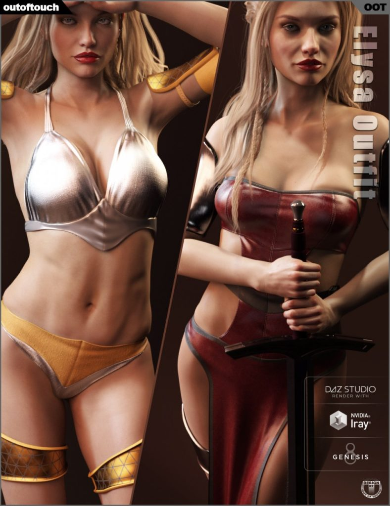 Elysa Outfit for Genesis 8 Female(s)_DAZ3D下载站