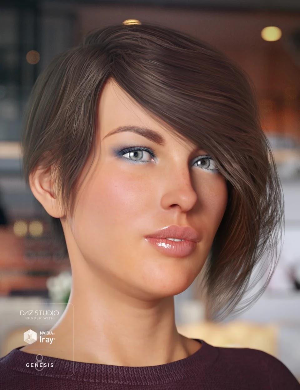 Evony Hair for Genesis 8 Female(s)_DAZ3D下载站