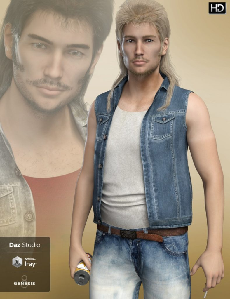 FWHP Buster HD for Genesis 8 Male_DAZ3D下载站